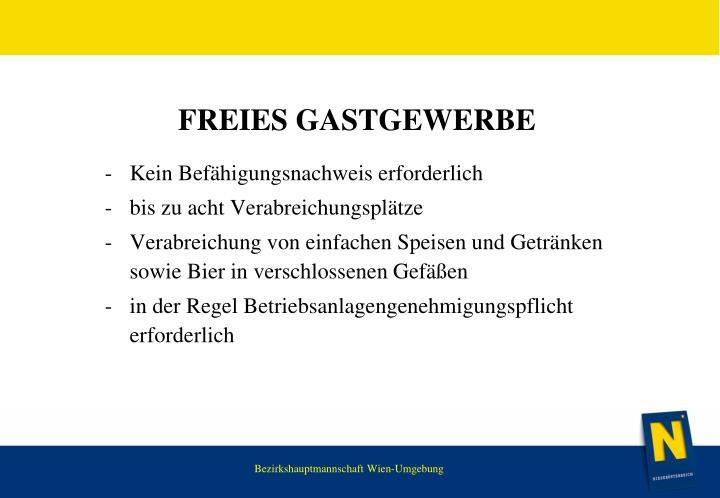FREIES GASTGEWERBE