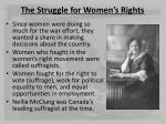 the struggle for women s rights