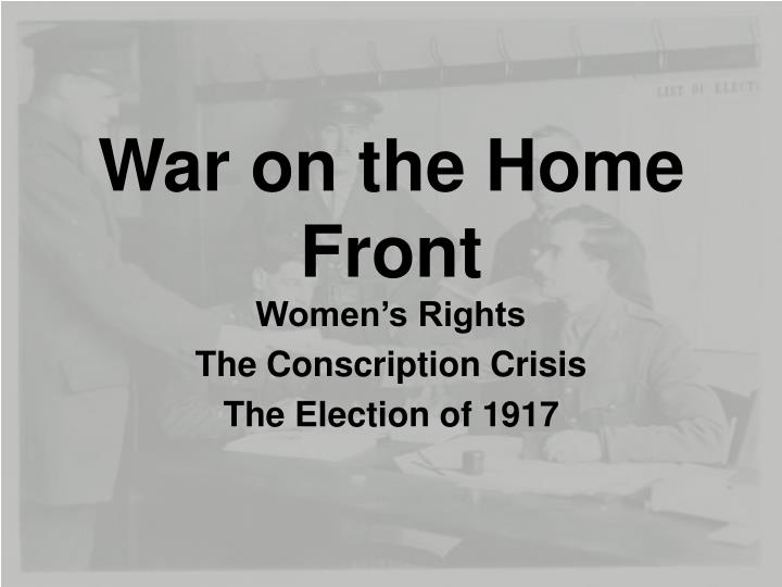 war on the home front n.