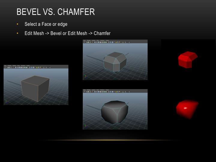 Bevel VS. Chamfer