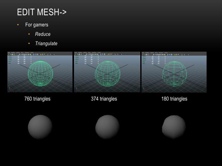 Edit Mesh->