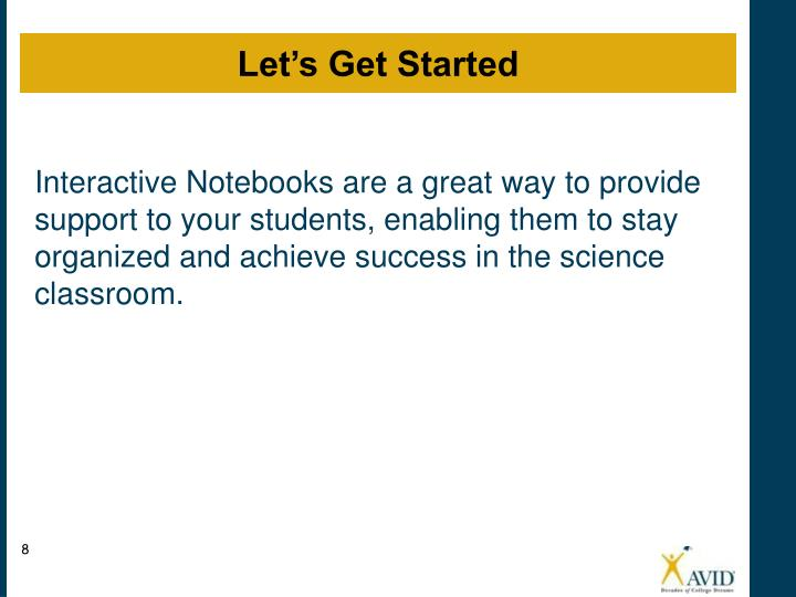 Interactive Notebooks are a great way to provide support to your students, enabling them to stay organized and achieve success in the science classroom.