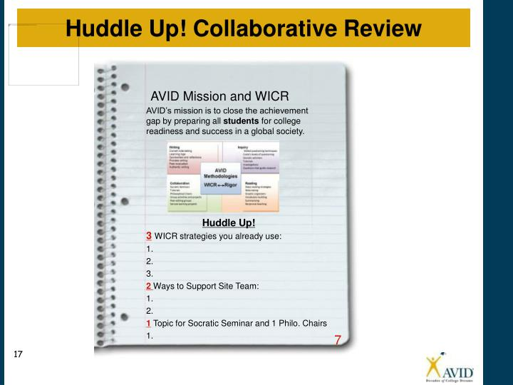Huddle Up! Collaborative Review