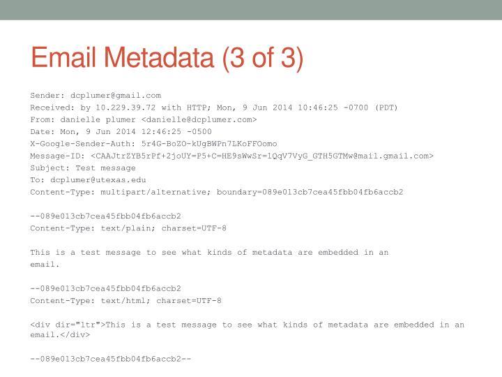 Email Metadata (3 of 3)