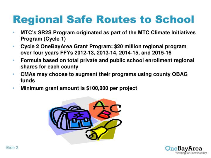 Regional safe routes to school