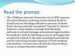 read the prompt