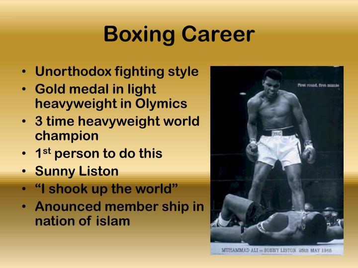 Boxing career