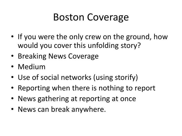 Boston coverage
