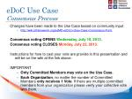 edoc use case consensus process