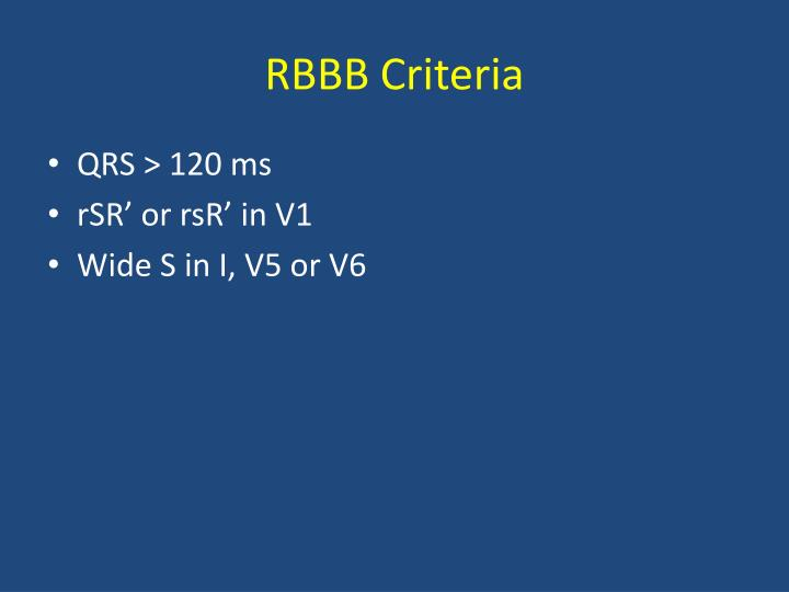 RBBB Criteria