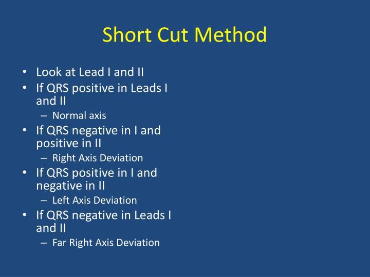 Short Cut Method
