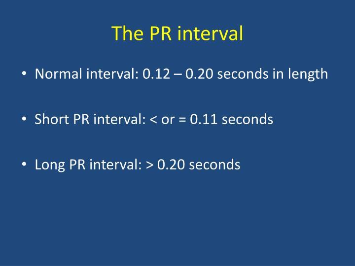 The PR interval