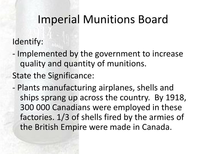 Imperial Munitions Board