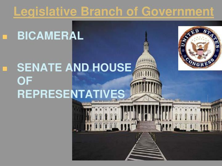 Legislative Branch of Government