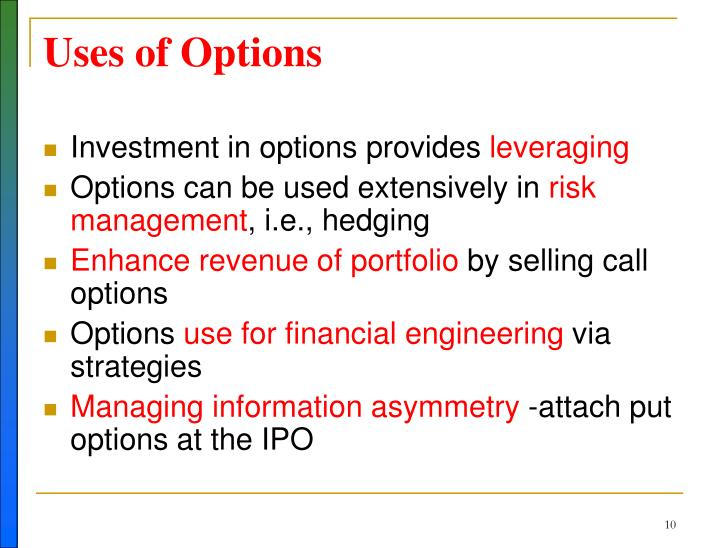 Uses of Options
