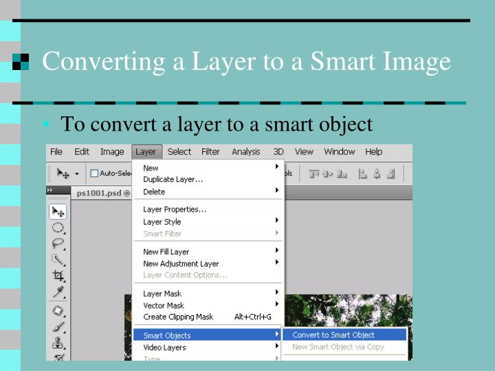 Converting a Layer to a Smart Image