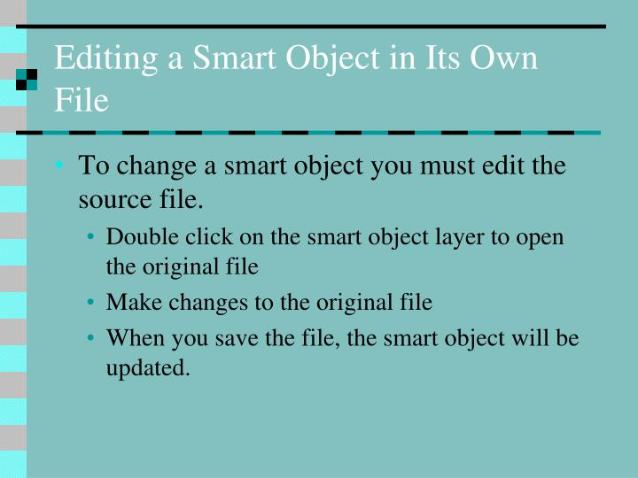 Editing a Smart Object in Its Own File