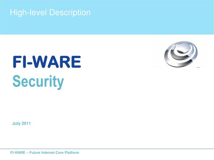 fi ware security july 2011 n.