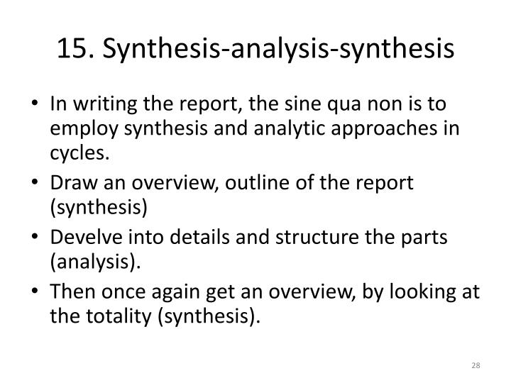 15. Synthesis-analysis-synthesis