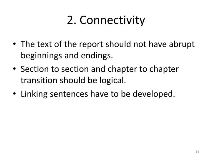 2. Connectivity