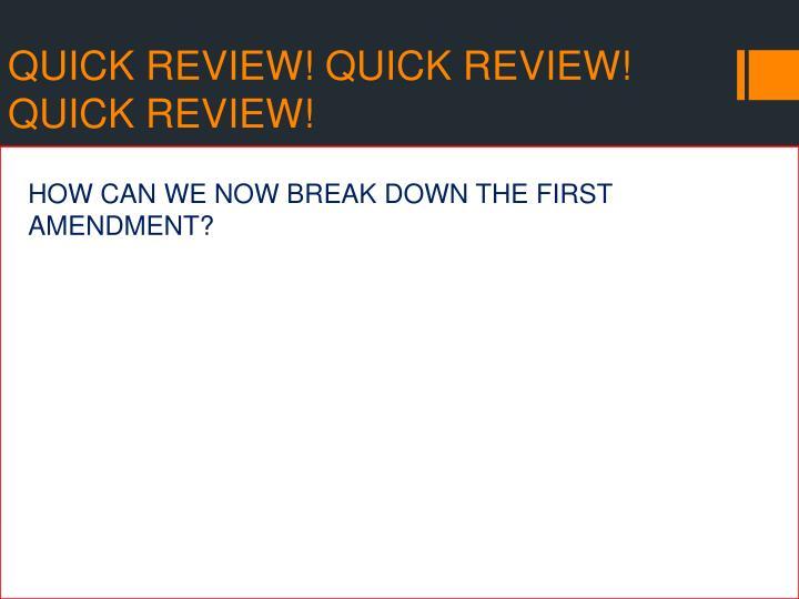 Quick review quick review quick review