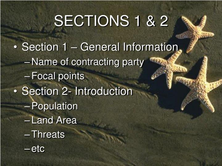 SECTIONS 1 & 2