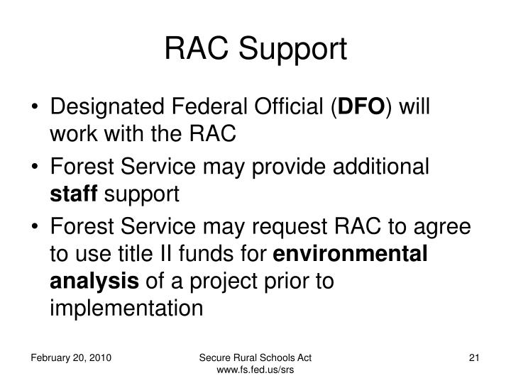 RAC Support