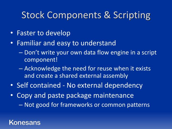 Stock Components & Scripting