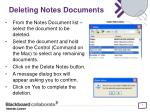 deleting notes documents