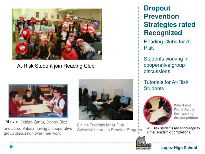 Dropout Prevention Strategies rated Recognized