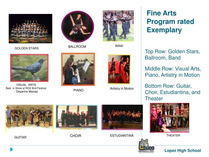 Fine Arts Program rated
