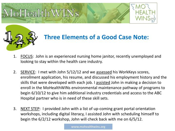 Three Elements of a Good Case Note: