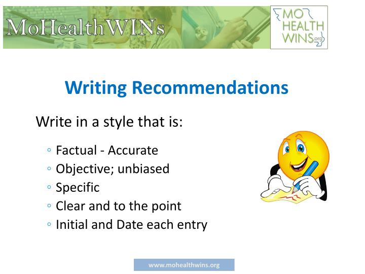 Writing Recommendations