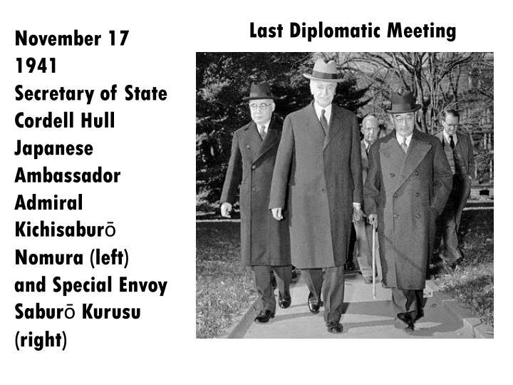 Last Diplomatic Meeting