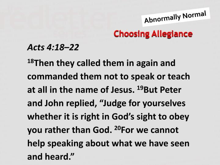 Acts 4:18–22