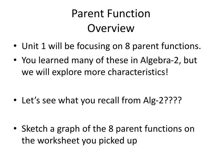 Parent Function