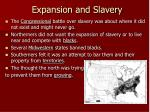expansion and slavery