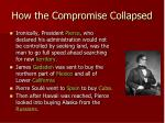 how the compromise collapsed1