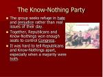 the know nothing party1