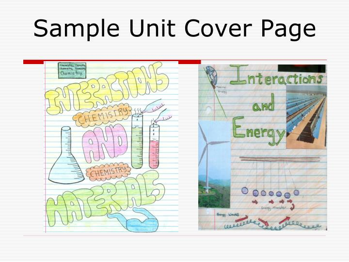 Sample Unit Cover