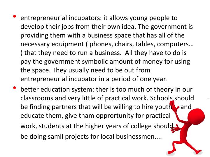 entrepreneurial incubators