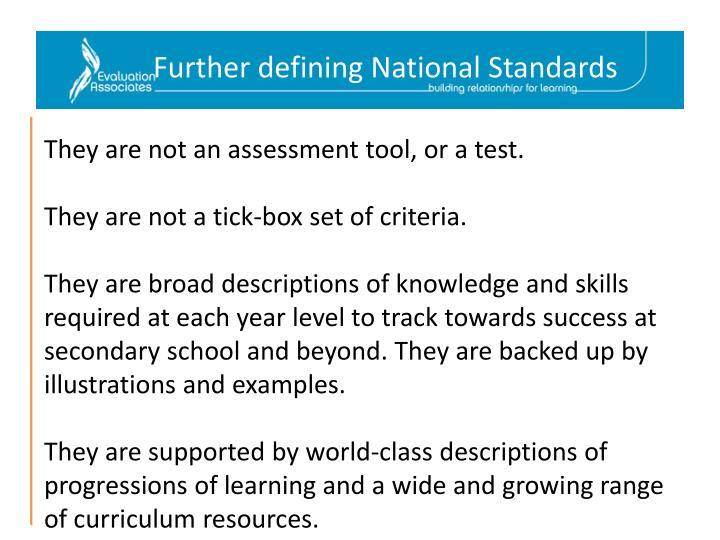 Further defining National Standards