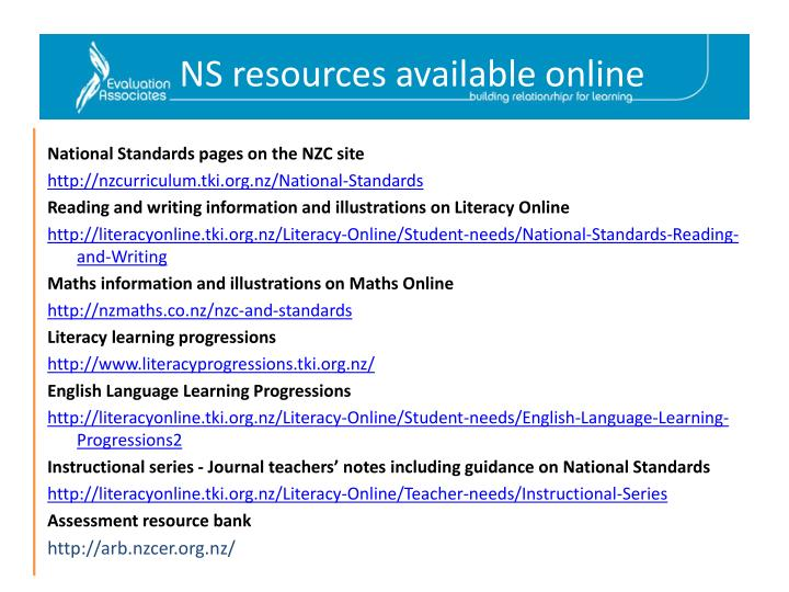 NS resources available online