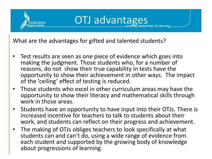 OTJ advantages