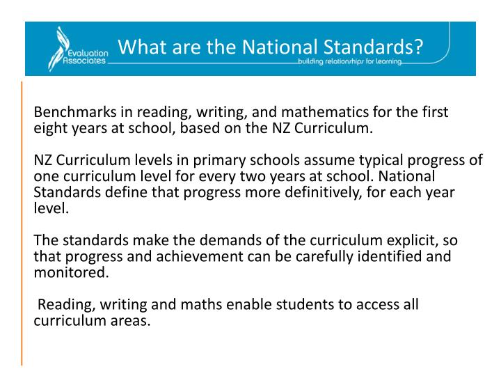 What are the National Standards?