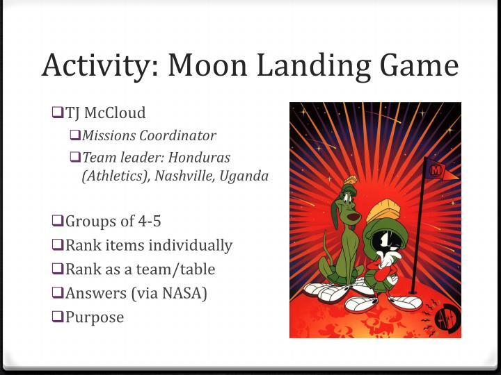 Activity: Moon Landing Game