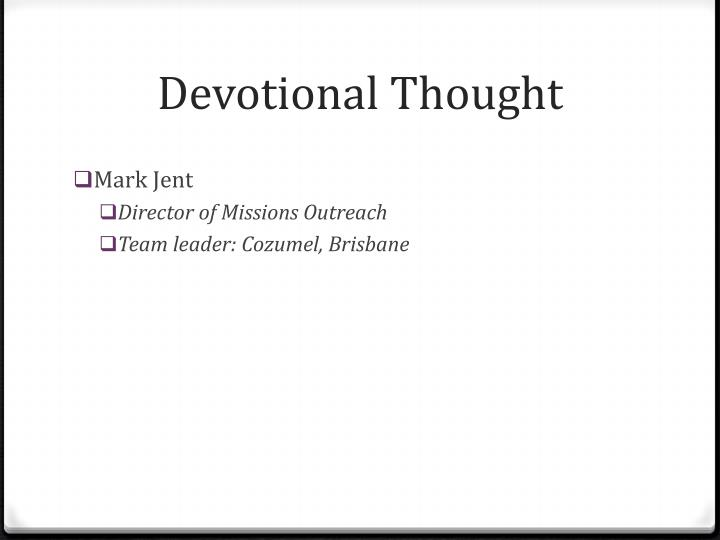 Devotional Thought