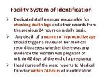 facility system of identification