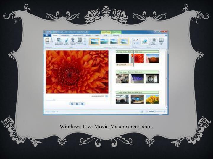 Windows Live Movie Maker screen shot.