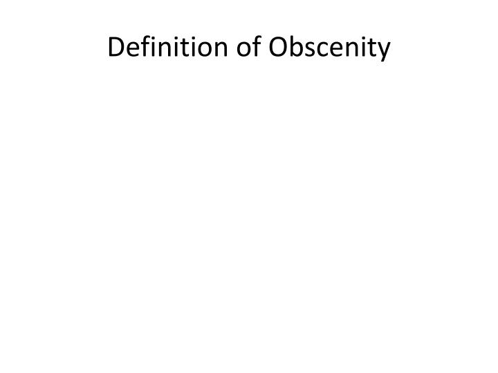 Definition of obscenity